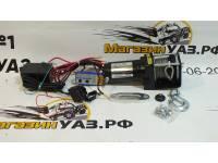 Лебедка электрическая 12V Electric Winch 3000lbs / 1361 кг с кевларовым тросом