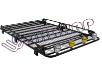 Багажник УАЗ-3163 Патриот, на водостоки, сварной с сеткой с боковым ограждением
