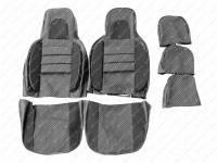 Чехлы сидений 31514 Люкс (Объемные, автомоб. ткань)