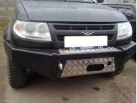 Бампер передний на УАЗ Патриот Партизан без кенгурина