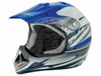 Шлем мотоциклетный кроссовый Bailide синий BLD-110 blue