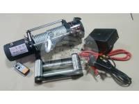 Лебедка электрическая 12V Electric Winch 12000lbs / 5443 кг разборная (порошковая краска черная)