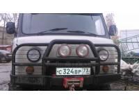 Бампер силовой передний Аллигатор на УАЗ 452