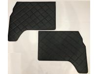 """Обивка передних дверей УАЗ-452(ДВП, винил/кожа, поролон, ватин, стеганый """"ромб"""")  Цвет: чёрный, серый"""