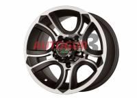 Диск колесный литой CRANK черно-серебристый 5x139.7 8xR15 d108.2 ET 0 PDW