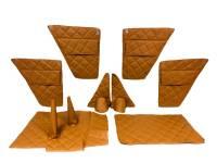 Обивка салона УАЗ Хантер (в/кожа, поролон, ватин) коричневый ромб, 8 предметов